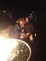 romantic outdoor firepit
