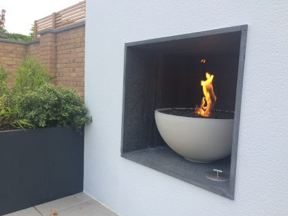 Solus fire pit in halva colour with surround UK