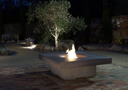 Solus outdoor gas Elevated Halo 48 bio fuel ethanol fire pit table in Sussex UK