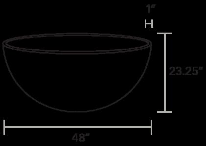 Solus hemi gas fire pit drawing