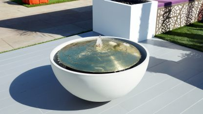 Solus Hemi Dome water feature at chelsea flower show