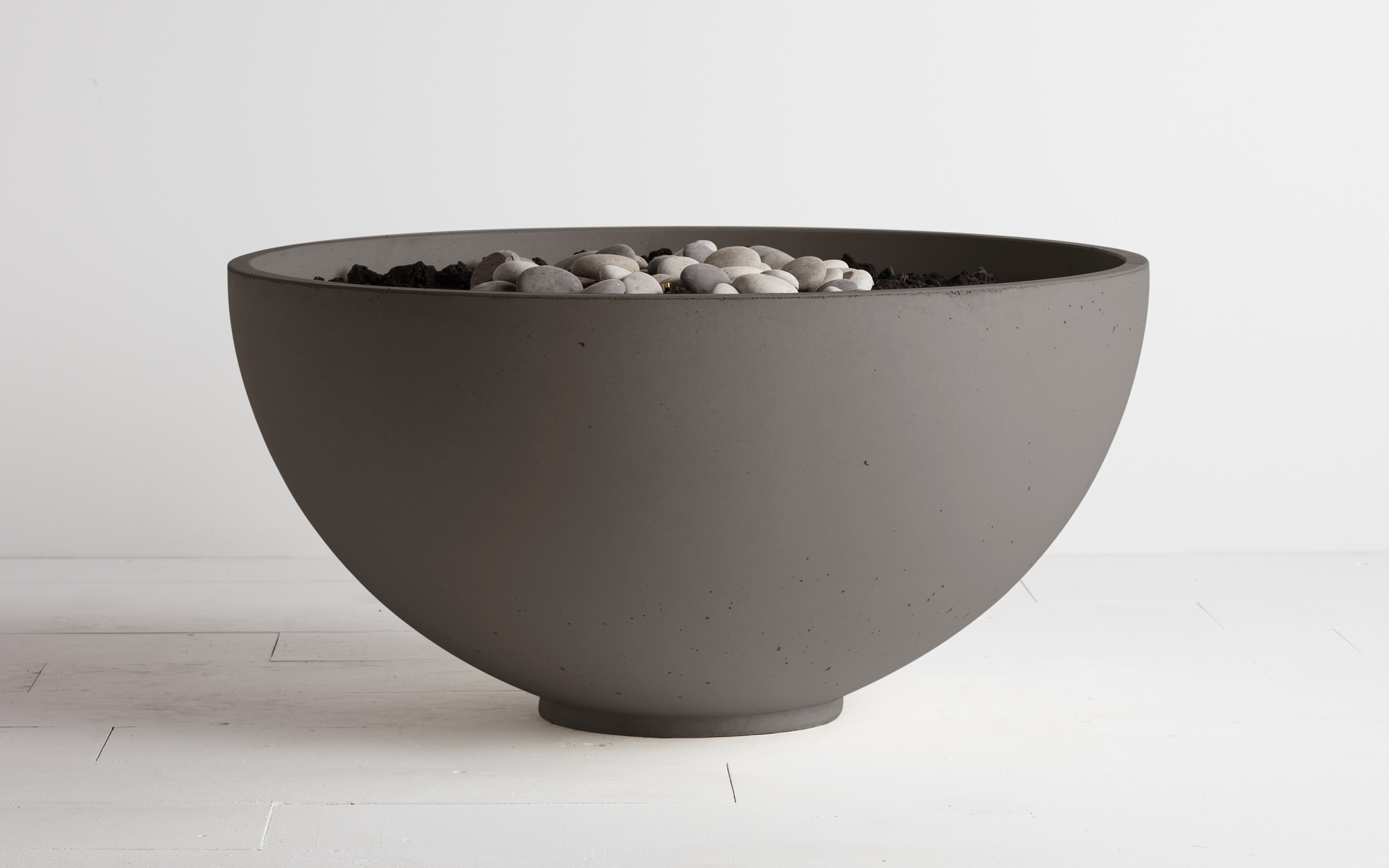 fire bowl in cinder