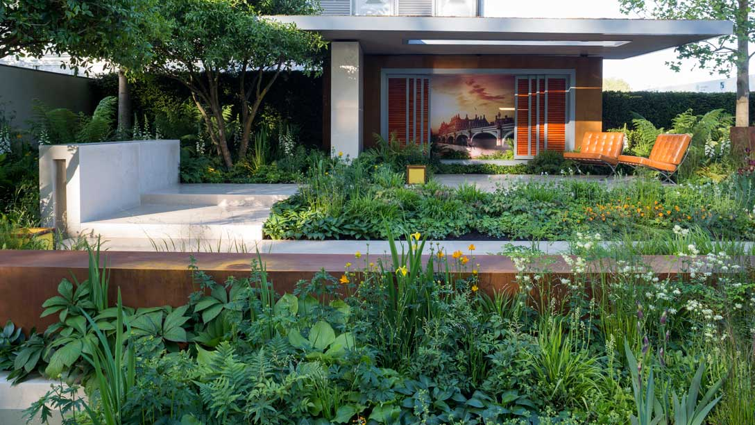 Vestra Wealth's Garden of Mindful Living by Paul Martin at chelsea flower show