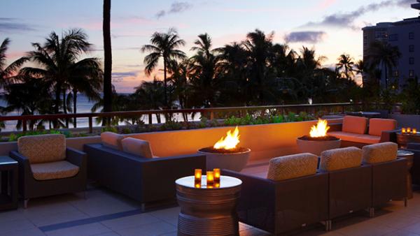 Hyatt Regency Waikiki fire pits