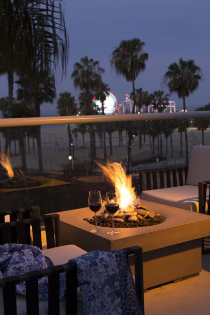 Fire Pit Loews Hotel Santa Monica