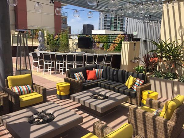 Vitamin D Lounge Urbana San Diego fire pit