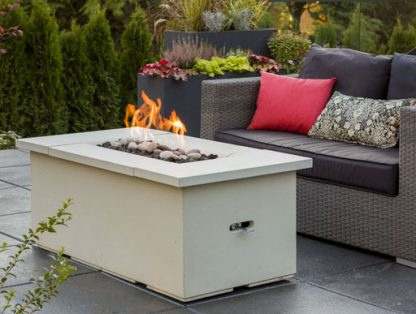 Solus firetable firepit table feature
