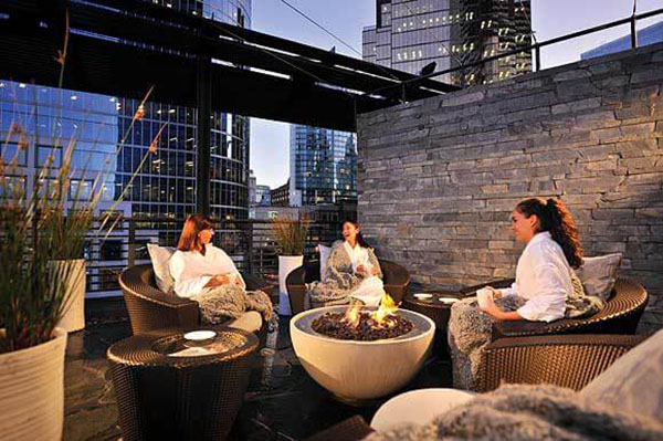 Willow Stream Spa at Fairmont Pacific Hotel with Hemi Fire Bowl