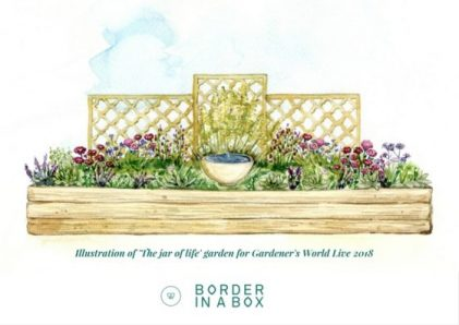 Water feature, border in box, bbc gardeners world live, water feature