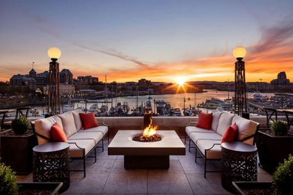 solus fire pit at fairmont empress hotel