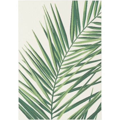 Palm leaf outdoor rug