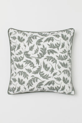 pattern green cushion