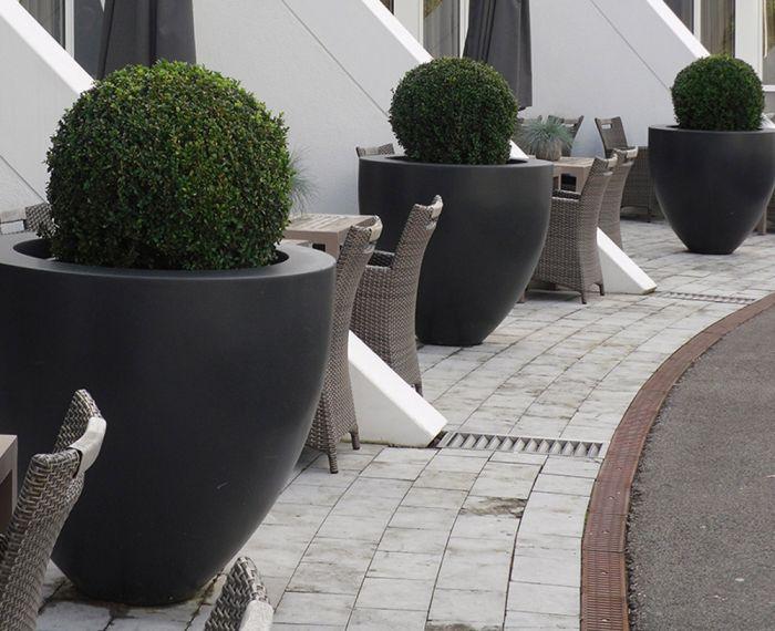 large round planter