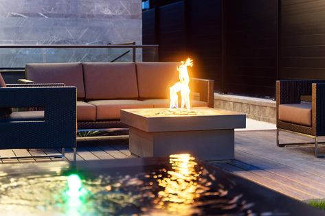 Royal Pacific Landing elevated halo fire pit
